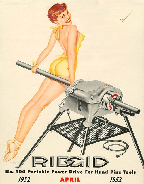 Picture from hardware calendar of 1952