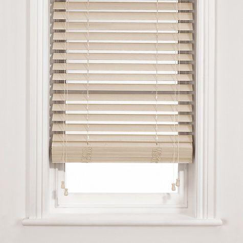 Buy John Lewis Wooden Venetian Blind, Chalk, 50mm Online at johnlewis.com - scenario 5 50mm