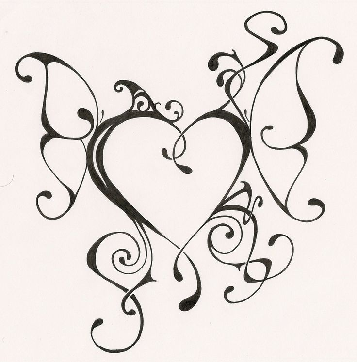Love Tattoo Outlines: 26 Best Heart Tattoo Outlines Images On Pinterest