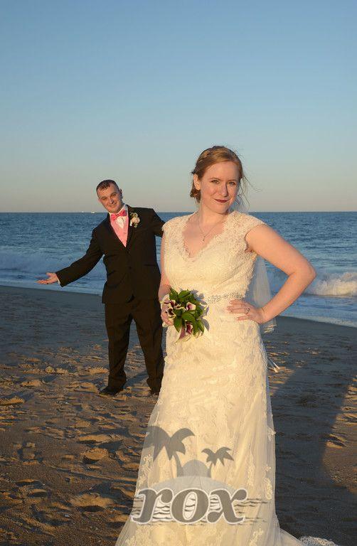 Groom upstaged by bride on Ocean City Maryland beach:  https://www.roxbeachweddings.com/
