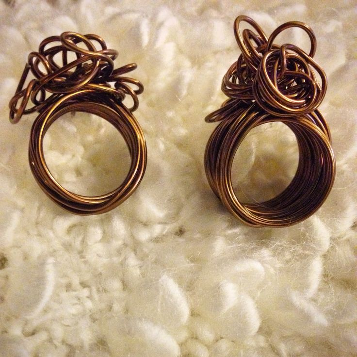 Nuovi anelli con filo metallico #bijoux #handmade #filometallico #ring