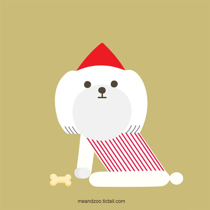 Santa doggy wish you happy christmas! Check our online shop, Prints edition now on 25% sale!!meandzoo.tictail.com