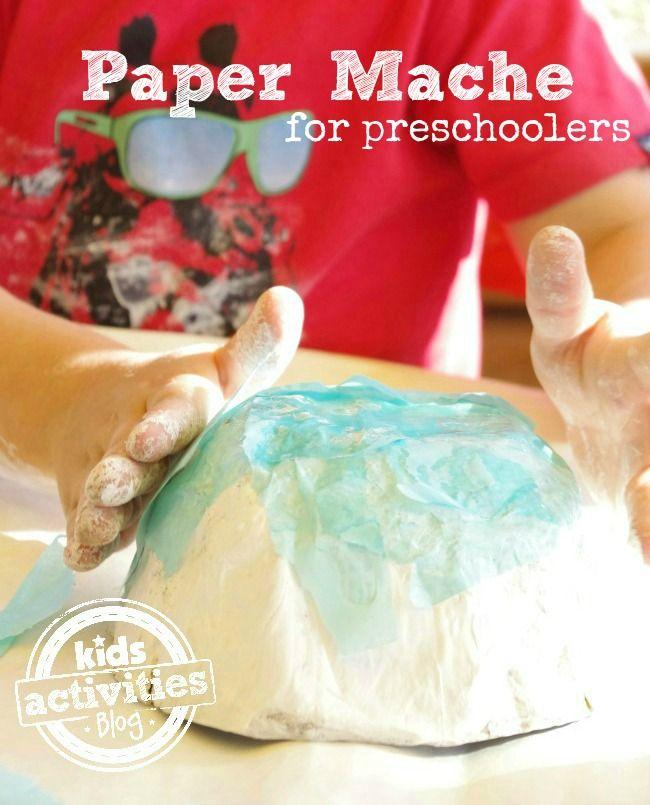 Paper mache for preschoolers paper mache paste for Paper mache activities