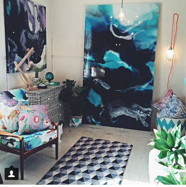 Another painting by Megan Weston - I really adore these quality #abstract artwork ! Out of my price range but am Obsessed !