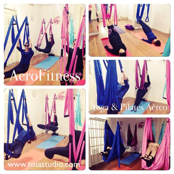 Y comenzamos las clases de AeroFitness:: Yoga & Pilates Aéreo en Naia Studio Ñuñoa!!