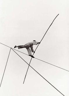 Izis Bidermanas, Tightrope walker, Lagny, 1959.  Learn Fine Art Photography - https://www.udemy.com/fine-art-photography/?couponCode=Pinterest10
