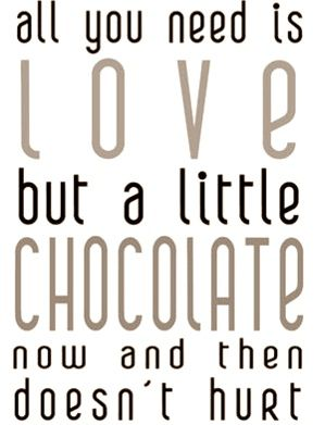 By enough chocolate, you mean like a bathtub full of melted chocolate with a beautiful woman in it right? :P