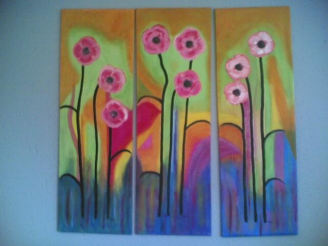 My flower triptych.