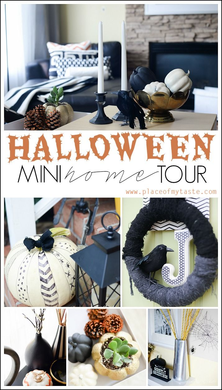 Halloween mini home tour-Placeofmytaste.com