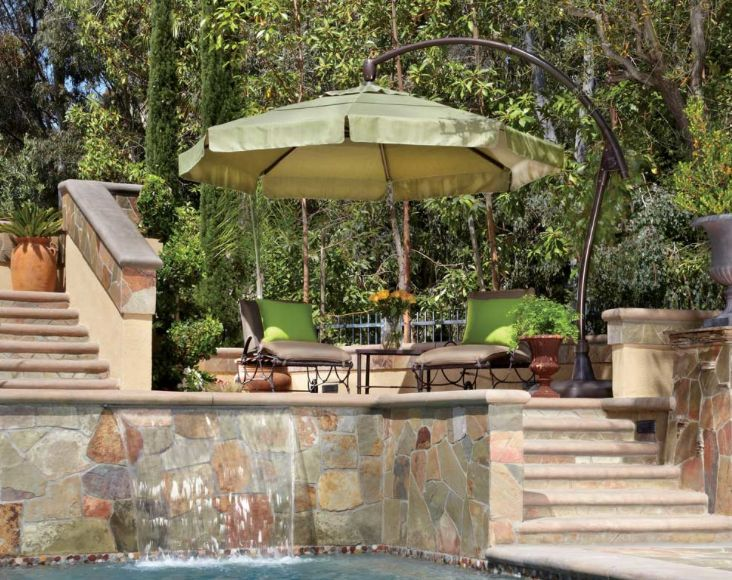 beautiful outdoor space with treasure garden umbrella click to see more of the treasure garden
