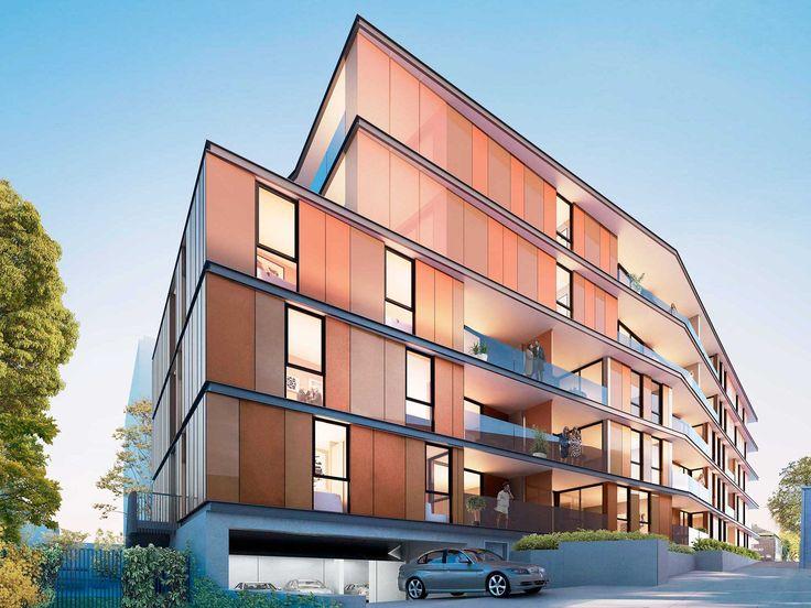 Blackburn Village Apartments | Featuring #Alucobond #Spectra Lava Red - #Facade