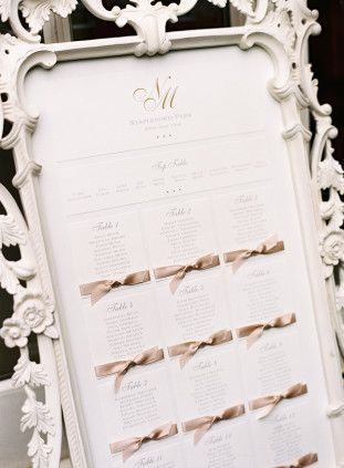 Chic Table Plan | Glamorous English Wedding | Depict Photography | Bridal Musings Wedding Blog
