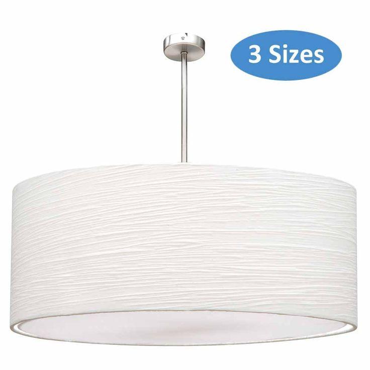 Two lights $169.95 - L2-186 White Drum Allure Pendants