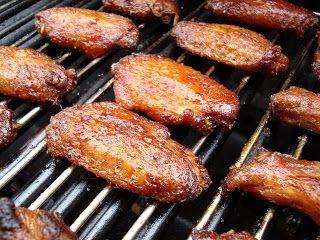 Applewood smoked chicken wings. . . yum