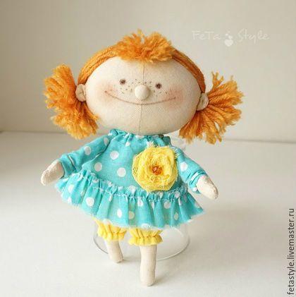 Человечки ручной работы. Ярмарка Мастеров - ручная работа. Купить Рыжая.  Кукла текстильная. Handmade. Кукла, кукла малышка