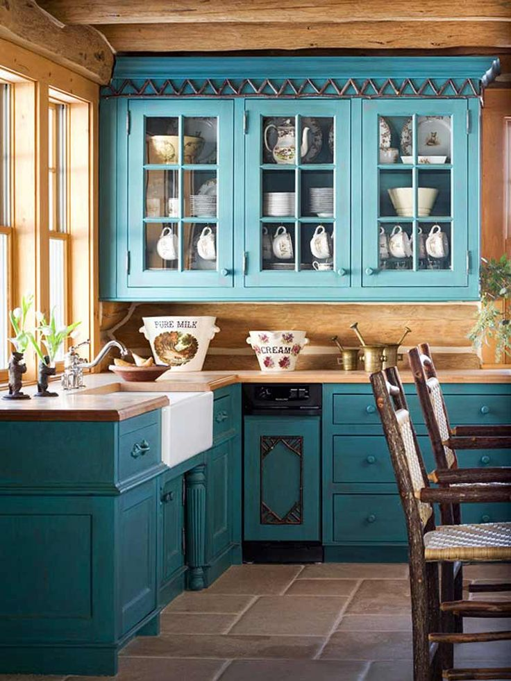 17 Best Ideas About Blue Kitchen Cabinets On Pinterest | Blue