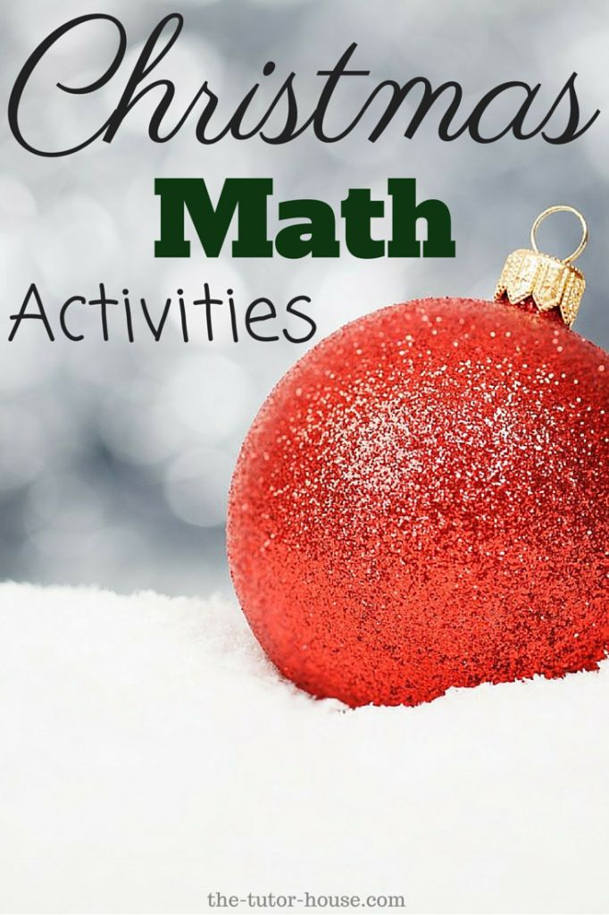 Save for later!  Mountains of fun Christmas Math Activities.  | the-tutor-house.com