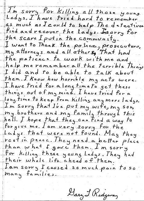 Green River Killer Gary Ridgway