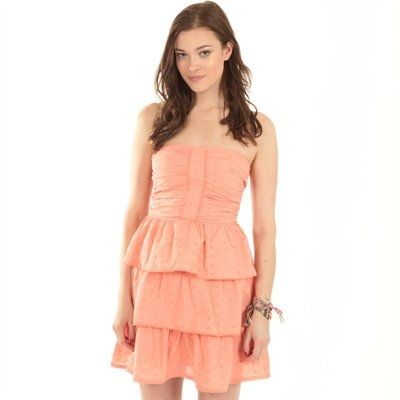 Strapless Peach Dress from Pimkie