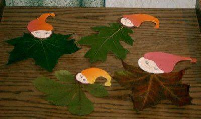 Bl tter wichtel fensterdeko f herbst mit natur - Herbst fensterdeko ...