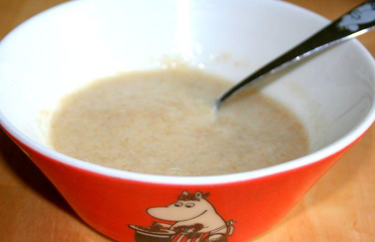 Ekologisk barnmat, hemmagjord barnmat, recept: Skrädmjölsgröt
