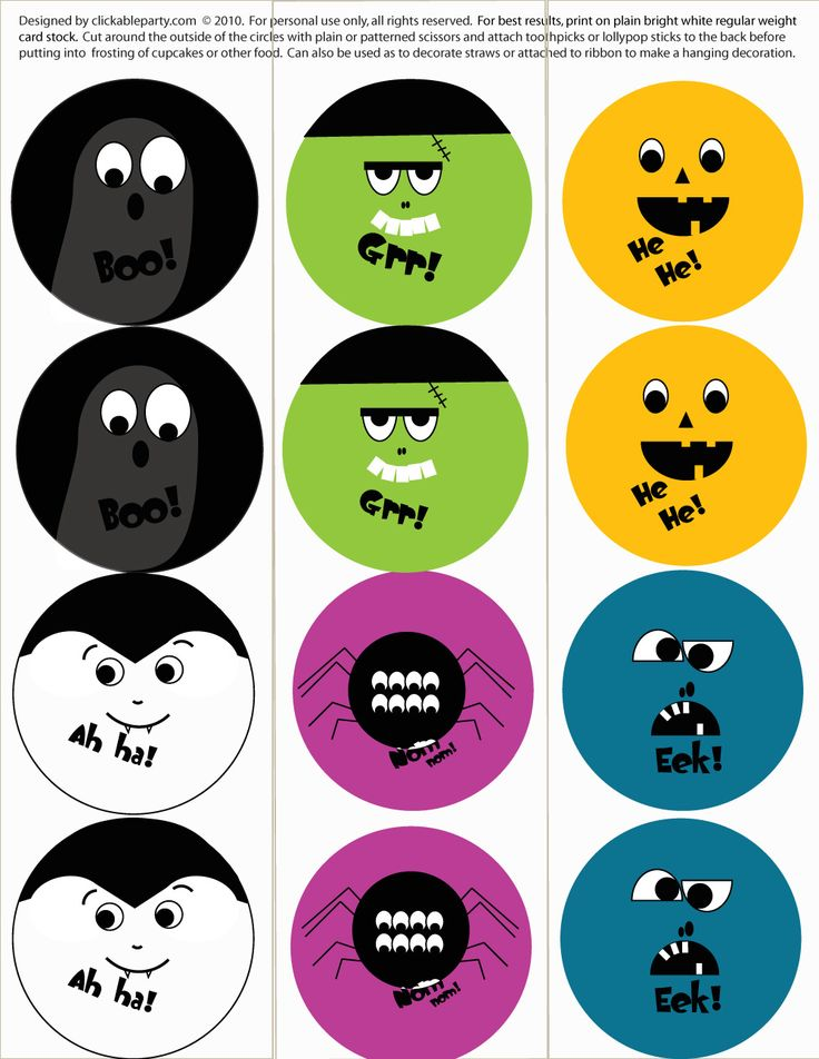 free halloween party printables spooky faces party circles and a lot more exciting stuff
