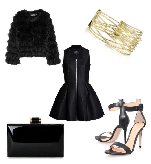 """""""Black is always elegant."""" by aleksaaryal on Polyvore featuring Alice + Olivia and Gianvito Rossi"""