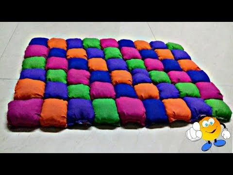 DIY HOME PROJECTS #HOW TO MAKE DOORMAT #old cloth recycling #Old cloth Reuse idea #HOW TO MAKE RUG - YouTube