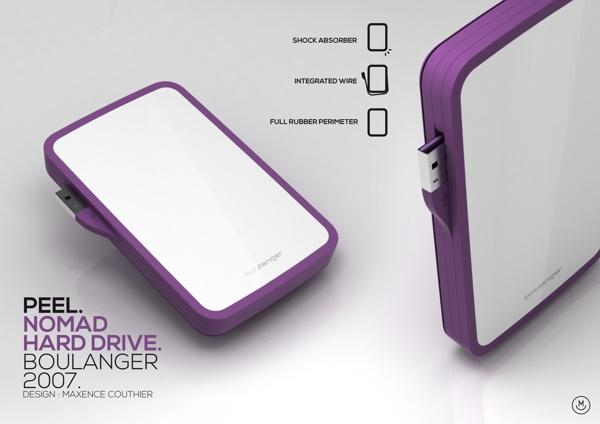 Peel . Nomad Hard Drive 2007 by maxence couthier, via Behance