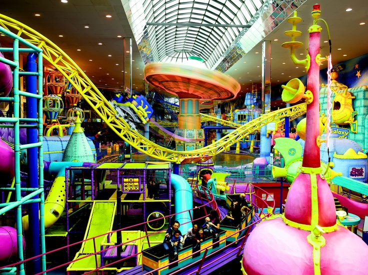 The world's largest indoor amusement park features more than 24 spectacular rides and play areas for all ages.