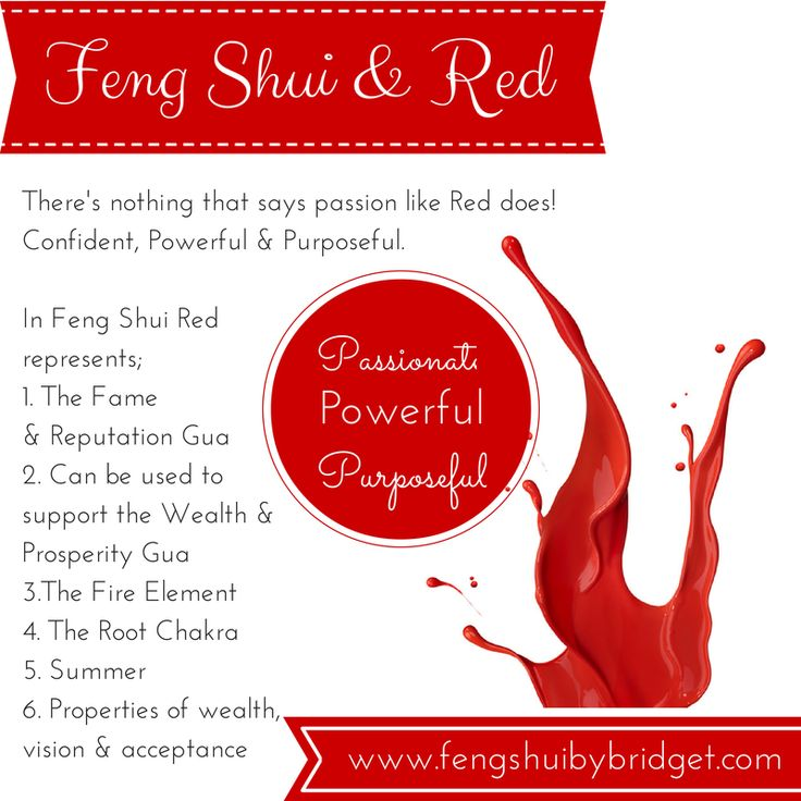 Feng Shui and the colour red, passionate, powerful, purposeful. #fengshuicolourred, #red, www.fengshuibybridget.com, #bridgetsaraka