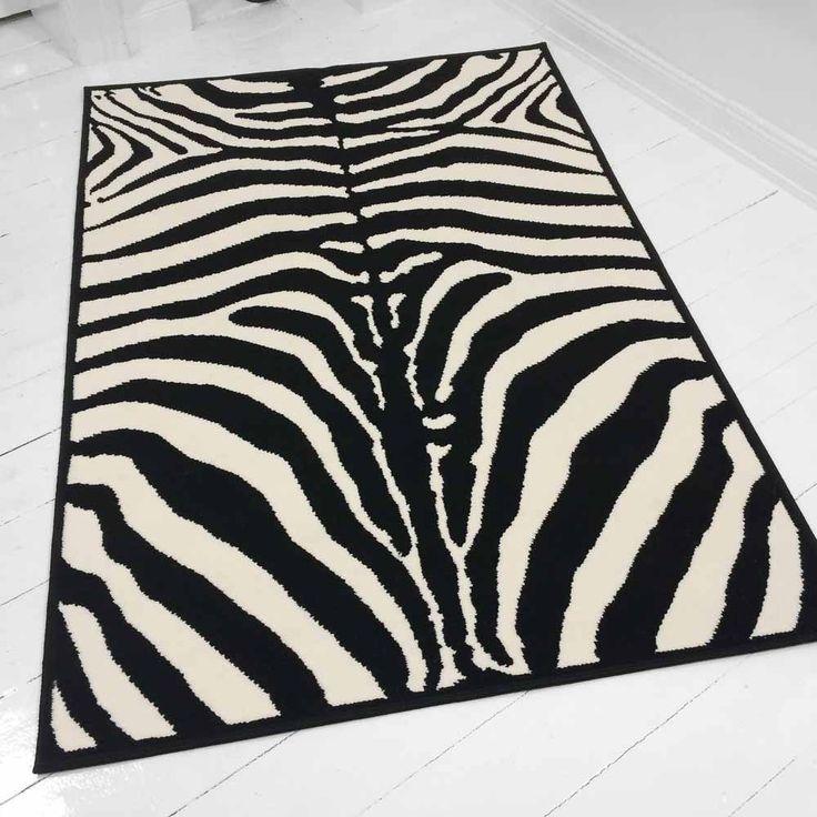die besten 25 zebra teppich ideen auf pinterest zebra teppiche zebra wohnzimmer und zebra. Black Bedroom Furniture Sets. Home Design Ideas