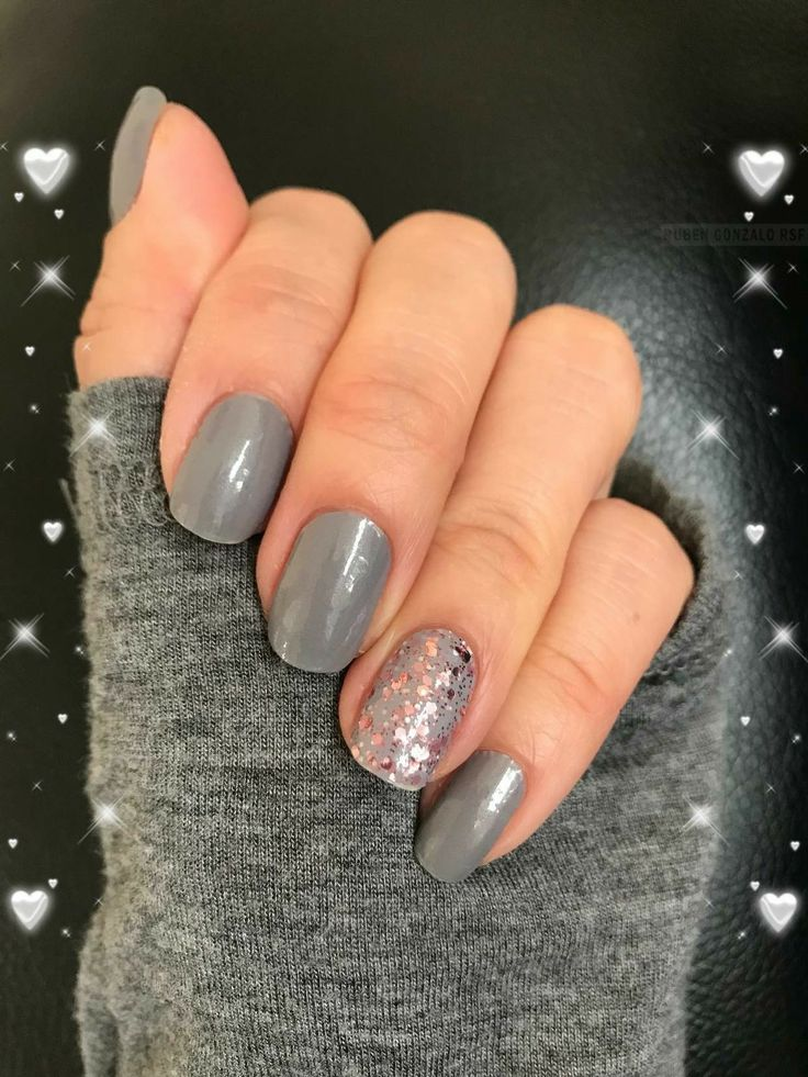 Get This Look With Color Street Use London Fog Amp Capitol Hill In 2019 Gray Nails Manicure