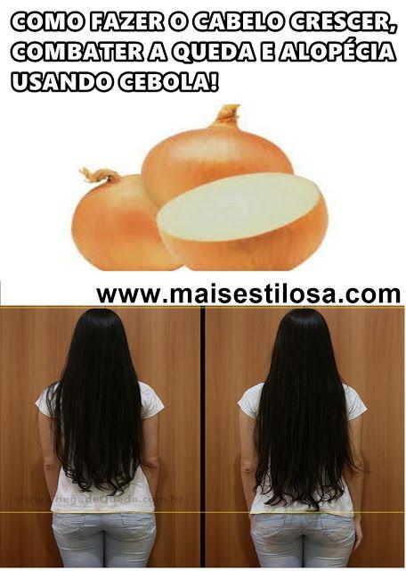 cebola para crescer cabelo como usar