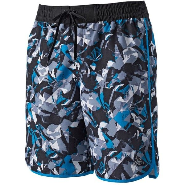 Big & Tall Adidas Surfer Volley Swim Trunks ($42) ❤ liked on Polyvore featuring men's fashion, men's clothing, men's swimwear, black, big and tall mens clothing, big & tall mens clothing, mens swim trunks, mens big and tall swimwear and mens apparel