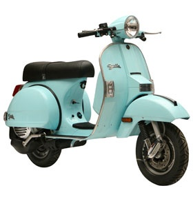 Vespa # I've got the same in white - called PX 80 lusso! Best time. Only two scooters in the town.