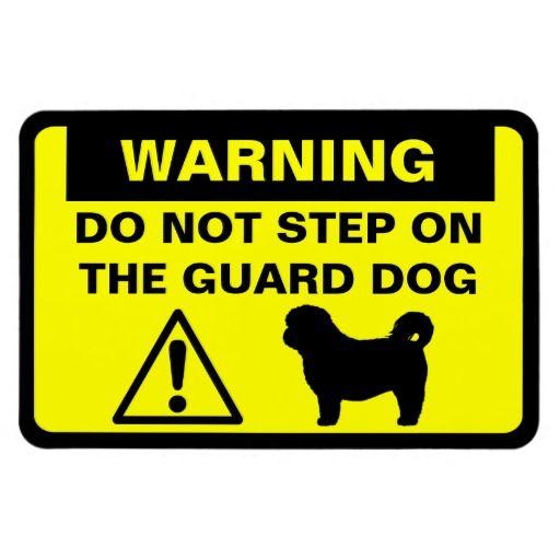 Shih Tzu Humorous Guard Dog Warning 4X6 Magnet