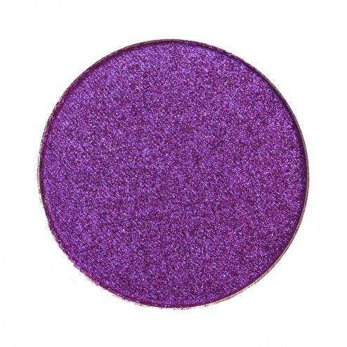 Makeup Geek Foiled Eyeshadow Pan - Masquerade. Foiled bold purple. Amazing formula. Lid color pop. $10.