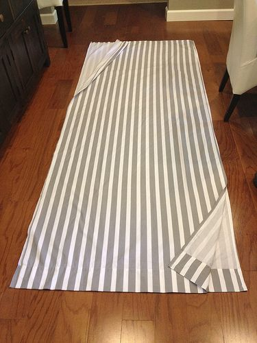 Curtains from full/queen bed sheet - Cutting Sheets in Half