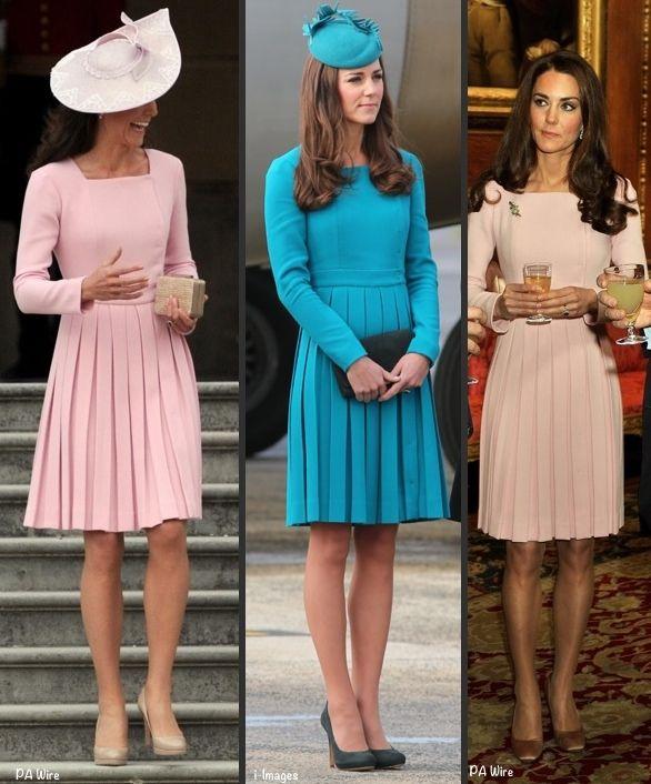 whatkatewore:  Duchess of Cambridge in Emilia Wickstead-Queen's Garden Party 2012, New Zealand 2014, Sovereign's Lunch 2012