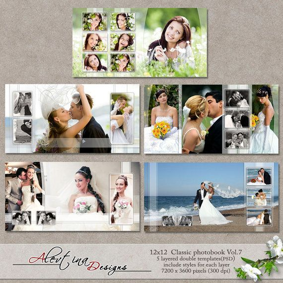 12x12 Templates Classic Photobook Vol.7 PSD 5 от DesignsAlevtina