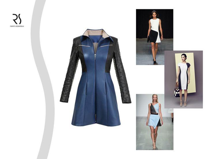 dress - Ranita Sobanska  #rs #moodboard #fashion #ReadyToWear #PolishFashionDesigner #FashionDesigner #designer #sportfashion #ModaPolska #PolscyProjektanci #black #blue #dress