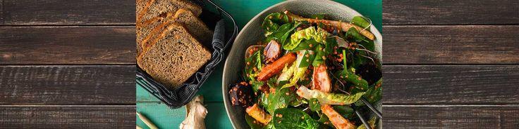 Bagte rodfrugter, spinat og røde linser