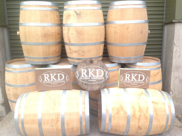 RKD Floral Displays can put a logo of your choice on one of these barrels