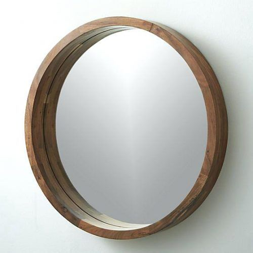 Wall Mirrors Large Round Wood Framed Mirror Oak Wooden Frame Designs