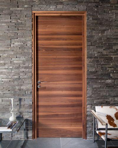 Internal door - flush horizontal grain american black walnut