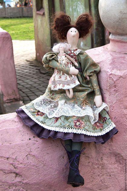 Куклы Тильды ручной работы. Ярмарка Мастеров - ручная работа. Купить Эллисон. Текстильная кукла в стиле тильда. Handmade. Зеленый
