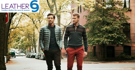 What's your winter go-to? Sweater or jacket? #Leather #Jacket #Fashion #2015 #Men #Women