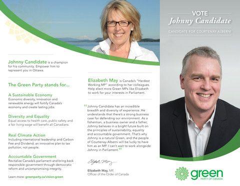 GPC Candidate Custom Trifold Brochure - Green Trim – GPC Gear