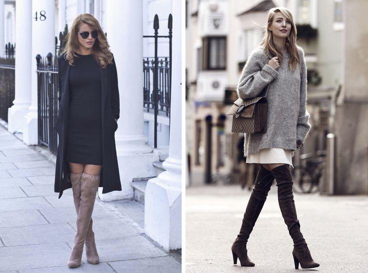 Ideální obuv do zimní rande? Kozačky nad kolena. Nejen, že jsou velmi sexy, ale taky zahřejí určitě víc, než ten pár lodiček, nad kterými přemýšlíte. Oblékněte je klidně přes skinny kalhoty nebo j šatům, ke můžete nechat vykukovat kousek kůže. Tu pak na večerní procházce schováte pod kabát.